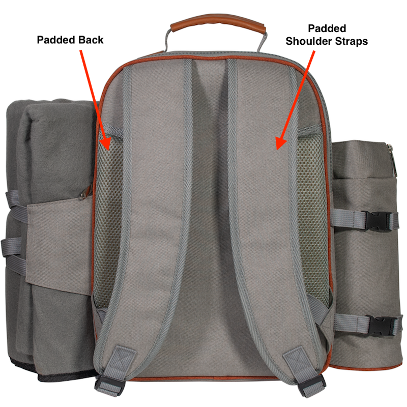 easy to carry straps for picnic backpack