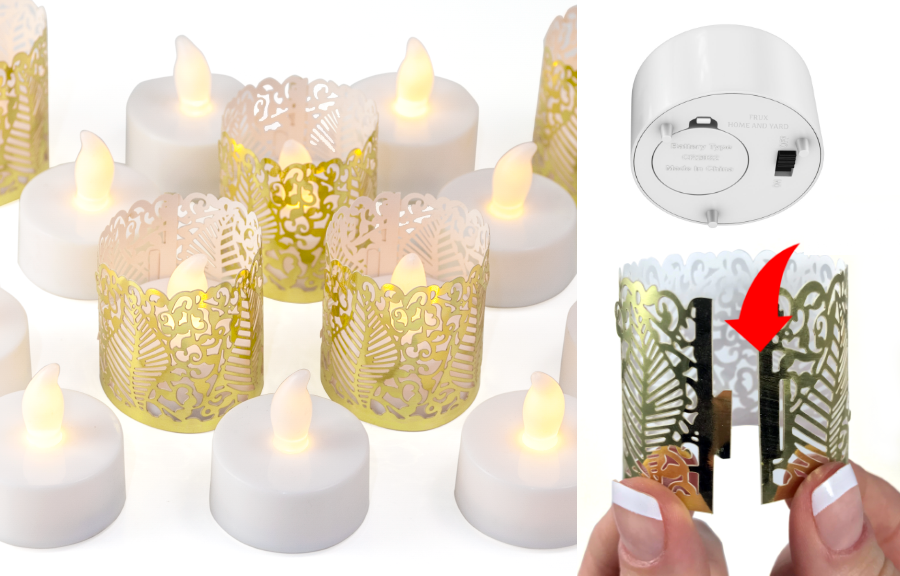 flameless led tea lights